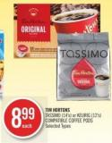 Tim Hortons Tassimo (14's) or Keurig (12's) Compatible Coffee PODS