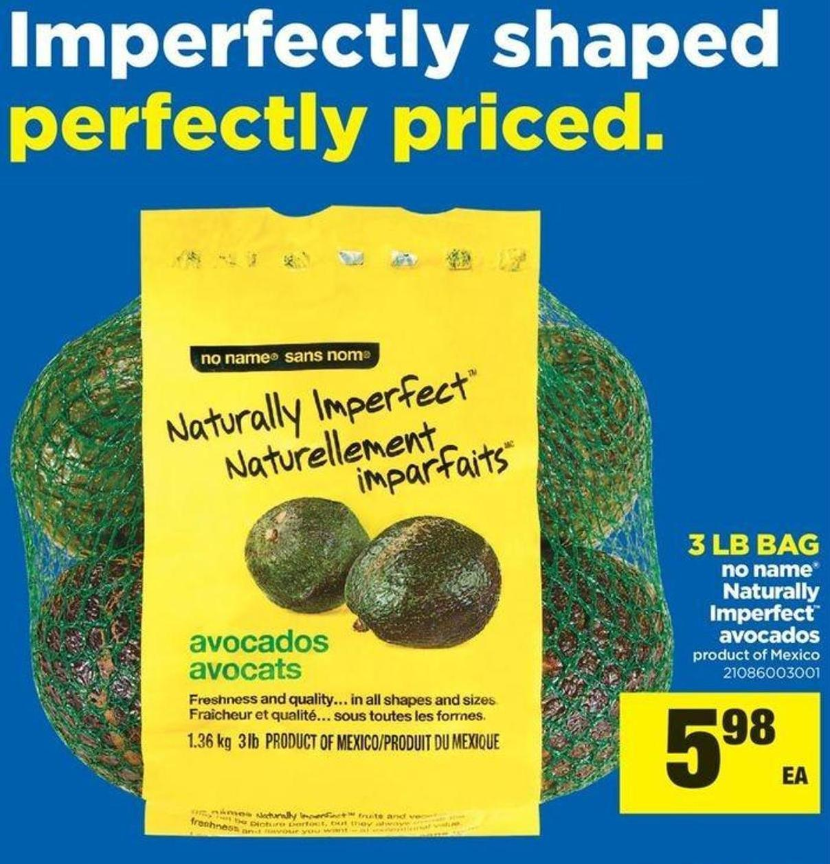 No Name Naturally Imperfect Avocados - 3 Lb Bag