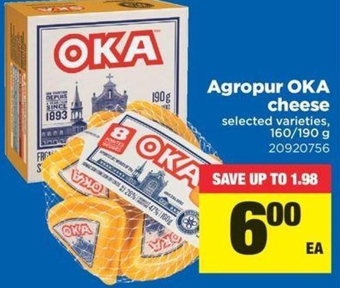 Agropur Oka Cheese - 160/190 G