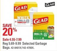 Glad Selected Garbage Bags