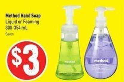 Method Hand Soap Liquid or Foaming 300-354 mL
