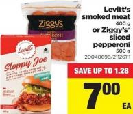 Levitt's Smoked Meat - 400 g Or Ziggy's Sliced Pepperoni - 500 g