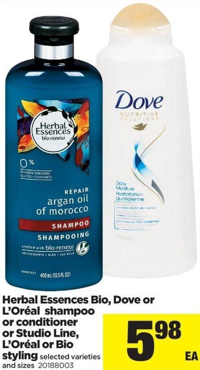 Herbal Essences Bio - Dove Or L'oréal Shampoo Or Conditioner Or Studio Line - L'oréal Or Bio Styling