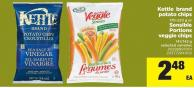 Kettle Brand Potato Chips - 170-220 g Or Sensible Portions Veggie Chips - 141/142 g