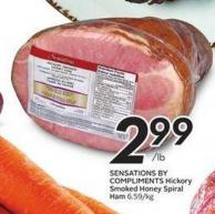 Sensations By Compliments Hickory Smoked Honey Spiral Ham