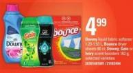 Downy Liquid Fabric Softener - 1.23-1.53 L - Bounce Dryer Sheets 80 Ct - Downy - Gain Or Ivory Scent Boosters - 162 G