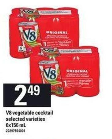 V8 Vegetable Cocktail - 6x156 mL