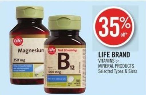 Life Brand  Vitamins or Mineral Products