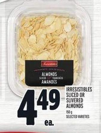Irresistibles Sliced Or Slivered Almonds