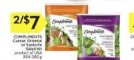 Sensations By Compliments Caesar Supreme or Santa Fe Supreme Salad Kit