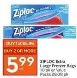 Ziploc Extra Large Freezer Bags 10 Pk or Value Packs 28-38 Pk