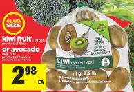Kiwi Fruit - 1 Kg Bag Or Avocado Pkg Of 6