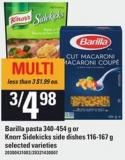 Barilla Pasta - 340-454 G Or Knorr Sidekicks Side Dishes - 116-167 G