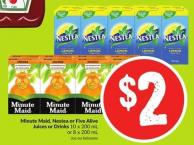 Minute Maid - Nestea or Five Alive Juices or Drinks 10 X 200 mL or 8 X 200 mL