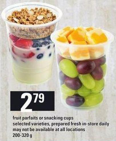Fruit Parfaits Or Snacking Cups - 200-320 G