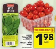 Grape Tomatoes Or Irresistibles Herbs
