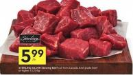 Sterling Silver Stewing Beef Cut From Canada Aaa Grade Beef or Higher