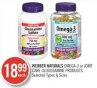 Webber Naturals Omega-3 or Joint Care Glucosamine Products