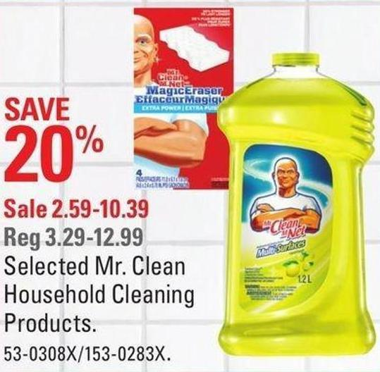Selected Mr. Clean Household Cleaning Products