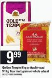 Golden Temple 9 Kg Or Aashirvaad 9.1 Kg Flour Multigrain Or Whole Wheat