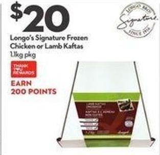 Longo's Signature Frozen Chicken or Lamb Kaftas