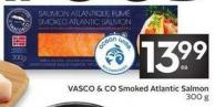 Vasco & Co Smoked Atlantic Salmon 300 g
