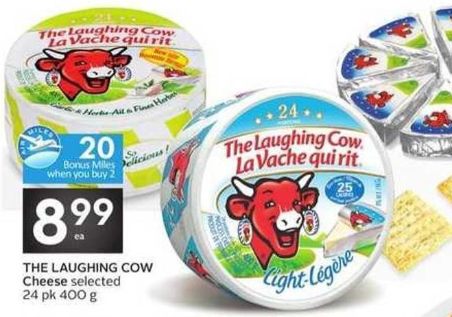 The Laughing Cow Cheese - 20 Air Miles Bonus Miles
