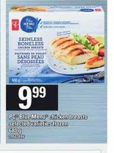 PC Blue Menu Chicken Breasts - 680 g