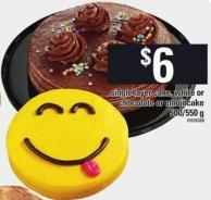 Single Layer Cake - White Or Chocolate Or Emoji Cake - 500/550 g