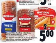 Dempster's White - Whole Wheat Or Grain Breads - Hot Dog - Hamburger Buns Or 7in Tortillas