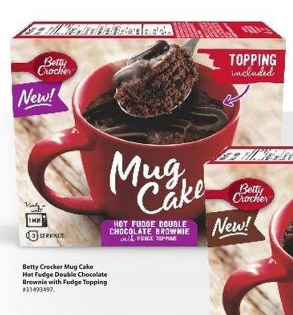 Betty Crocker Mug Cake Hot Fudge Double Chocolate Brownie With Fudge Topping