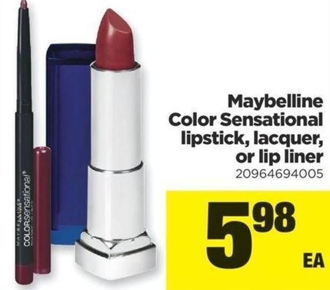 Maybelline Color Sensational Lipstick - Lacquer - Or Lip Liner