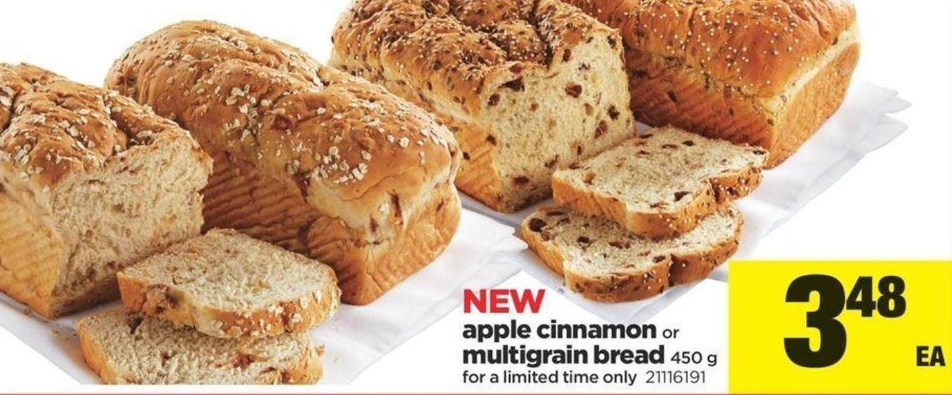 Apple Cinnamon Or Multigrain Bread - 450 G