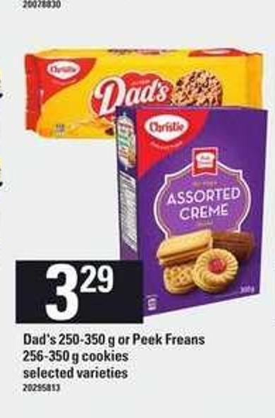 Dad's - 250-350 G Or Peek Freans - 256-350 G Cookies