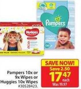 Pampers 10x or 9x Wipes