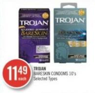 Trojan Bareskin Condoms 10's