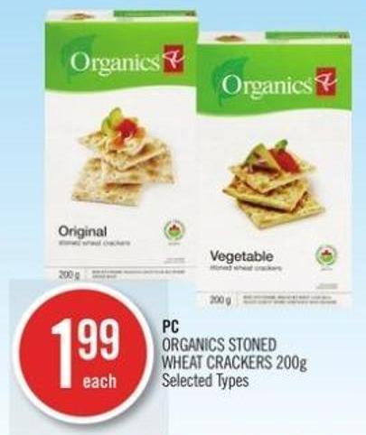 PC Organics Stoned Wheat Crackers 200g