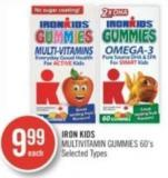Iron Kids Multivitamin Gummies 60's