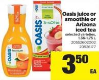 Oasis Juice Or Smoothie Or Arizona Iced Tea - 1.36-1.75 L