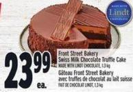 Front Street Bakery Swiss Milk Chocolate Truffle Cake