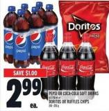 Pepsi Or Coca-cola Soft Drinks 6 X 710 Ml Or Doritos Or Ruffles Chips 210 - 255 G