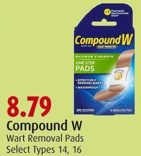 Compound W Wart Removal Pads