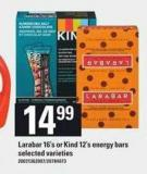 Larabar 16's Or Kind 12's Energy Bars