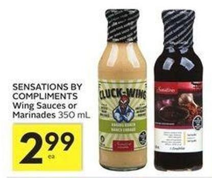 Sensations By Compliments Wing Sauces or Marinades