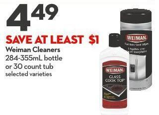 Weiman Cleaners 284-355ml Bottle  or 30 Count Tub