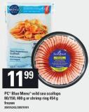 PC Blue Menu Wild Sea Scallops 80/150 - 400 G Or Shrimp Ring 454 G