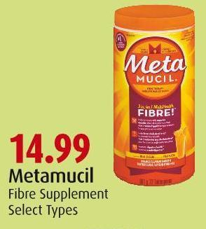 Metamucil Fibre Supplement Select Types