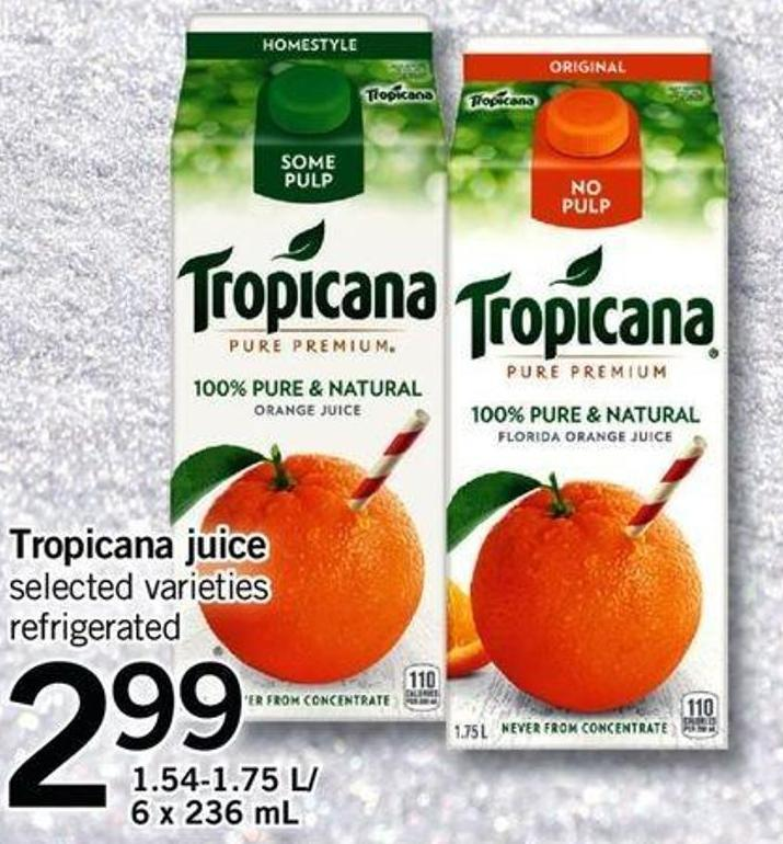 Tropicana Juice - 1.54-1.75 L/ 6 X 236 Ml