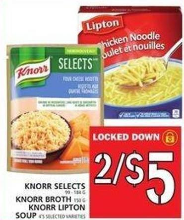Knorr Selects Or Knorr Broth Or Knorr Lipton Soup