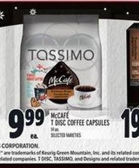 Mccafé T Disc Coffee Capsules